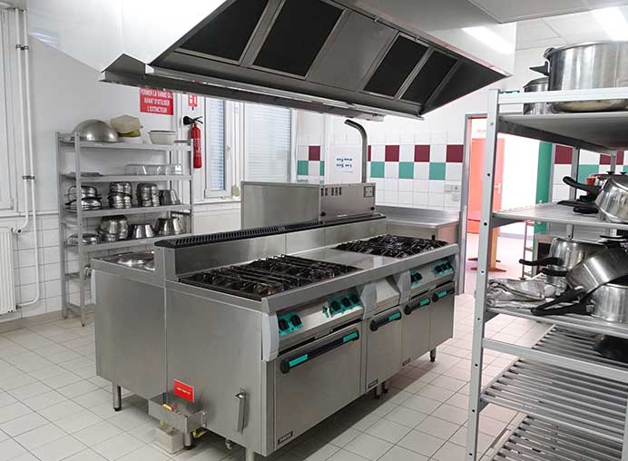 Küche in der Partnerschule Italien