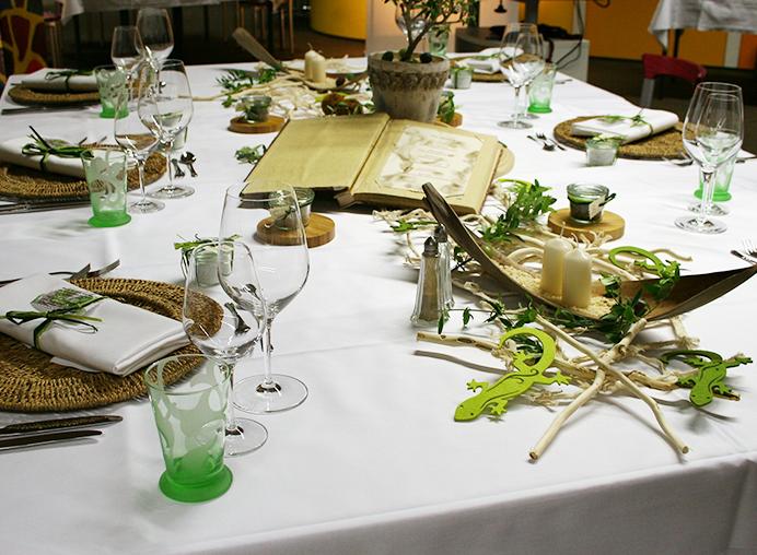 Gedeckter Tisch in der Gastro-Ausbildung