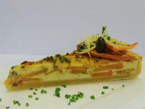Hokkaido-Tarte mit Schnittlauch